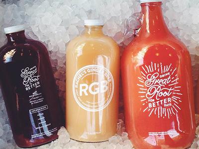Rachel's Ginger Beer (Growlers) seattle ginger beer bottles growler ginger 32oz 64oz screenprint rgb