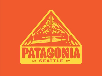 Patagonia Jammin' vintage tree lockup tent outdoors river outside patch seattle camp mt. rainier patagonia