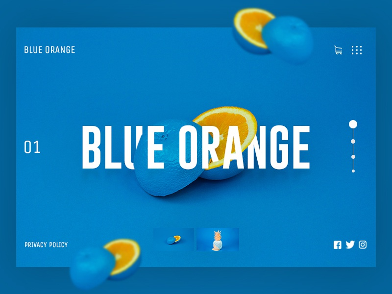 Blue Orange website branding ui ux web webdesign concept design uidesign