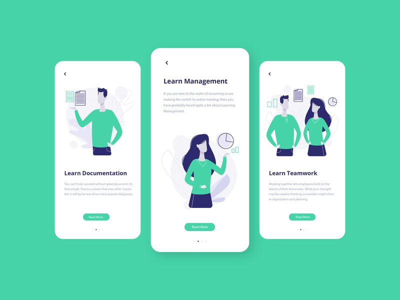 Learning class design mobile ui app minimal ui ux concept design webdesign uidesign