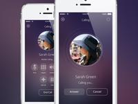 Kitovu IOS 8 Calling Screens
