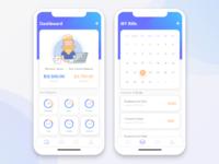 Money Tracker Mobile App UI