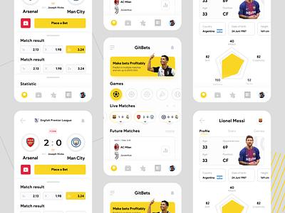 Sport Match App mobile app mobile ui ui design match sport designjam