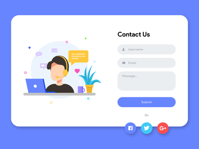 Contact Us Page design ui webdesign contact us dailyui