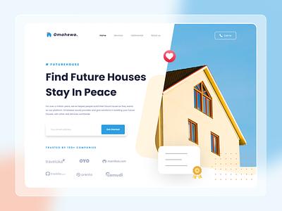 Omahewa - Landing page concept services branding webdesign ui design