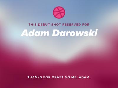 Thanks, Adam gradient mesh thank you card debut