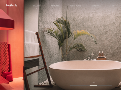 Westerly - Website Design ui clean minimal branding website webdesign design