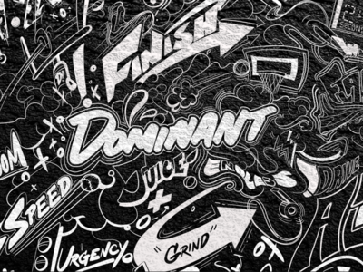 Banner graphic design black and white art graffiti identity typography illustration branding