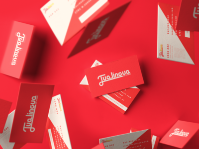 Tualingua business card design