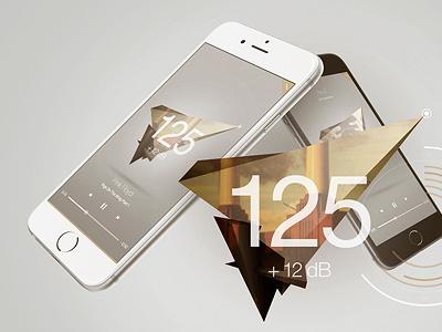 EQ App Concept polygon eq equaliser equalizer music ui app concept