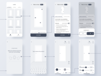 AR app wireframes figma flat minimal mockup flow flowchart design future 2020 wireframes ux app clean augmented reality