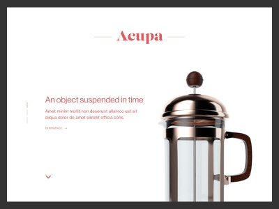 WIP - Product Feature Page coffee landing design design ux ui 3d product page webdesign