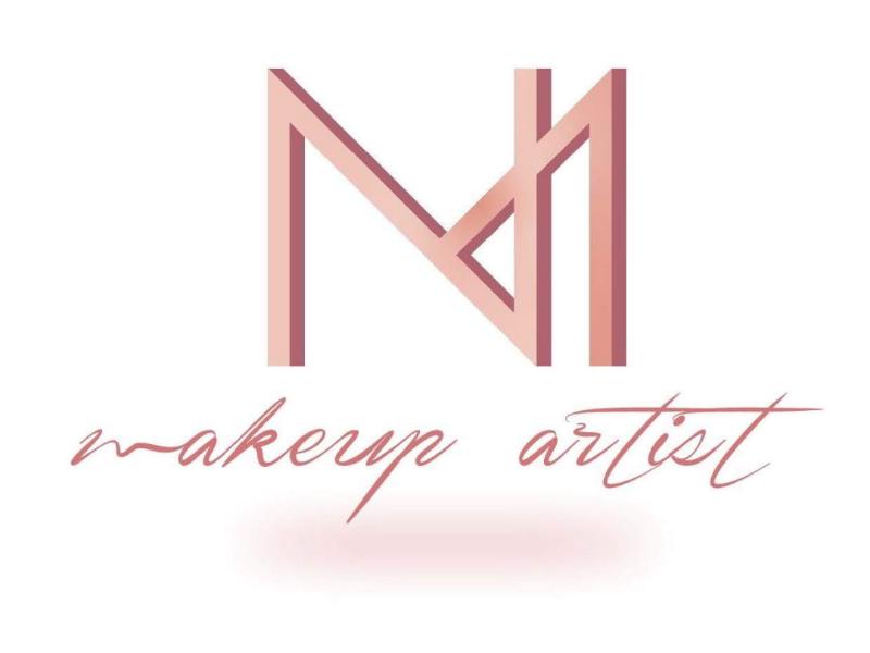 NM makeup artist logo visualidentity designe logodesigne