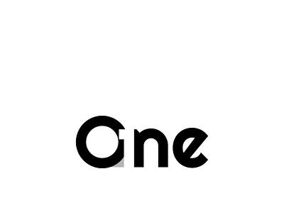 One logo design abstatct logo lettering minimallogo logo design letterlogo onelogo logo