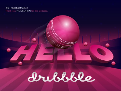 Hello Dribble! clean web identity illustrator flat lettering minimal logo vector branding typography design illustration