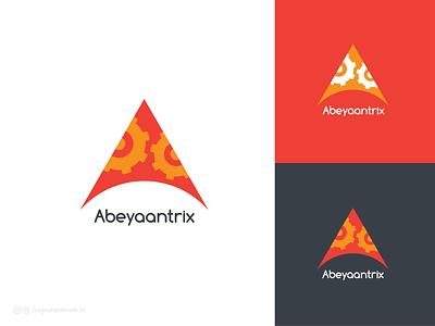 Abeyaantrix   Engineering Works clean graphicdesgn design lettering vector brandidentity identity logo