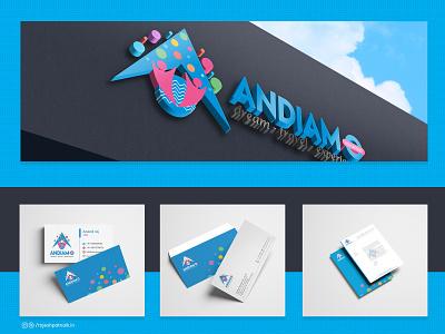 Andiamo   Logo Design & Stationary logodesign clean letterhead graphicdesgn vector lettering business card design logo branding brandidentity identity