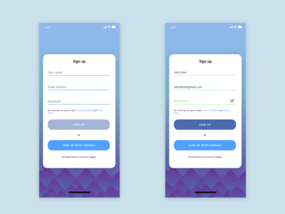 Daily UI: Day 1 Sign Up