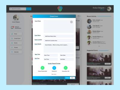 Rings Desktop: Create Event Modal