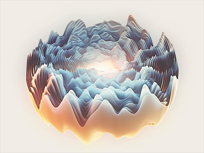 Waves Sequence animation 3d cinema 4d c4d motion graphics motion design motion waves