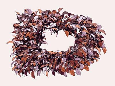 D Type Loop motion animation cinema 4d c4d loop typography type leaves plant