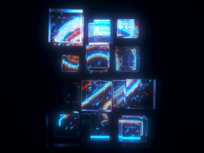 2 Number Loop 3d neon houdini c4d cinema 4d loop numbers typography type motion graphics motion design motion animation