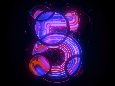 5 Number Loop 5 five 3d neon houdini c4d cinema 4d loop numbers typography type motion graphics motion design motion animation