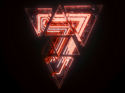 7 Number Loop 3d neon houdini c4d cinema 4d loop numbers typography type motion graphics motion design motion animation