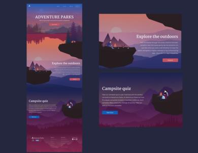 Adventure Parks Landing Page