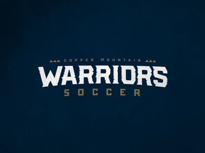 Copper Mountain Warriors SC Logo Type