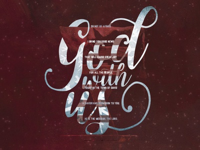 God With Us/Christmas Card christmas print layout lettering card design