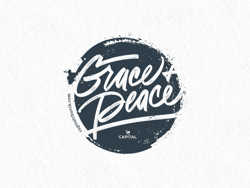 Grace & Peace/2017 Volunteer Gift capital church bible verse package product mug lettering design