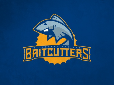 CFFL Steamboat Springs Bait Cutters illustration fish steelhead mascot typography fantasy football football design logo sports design sports