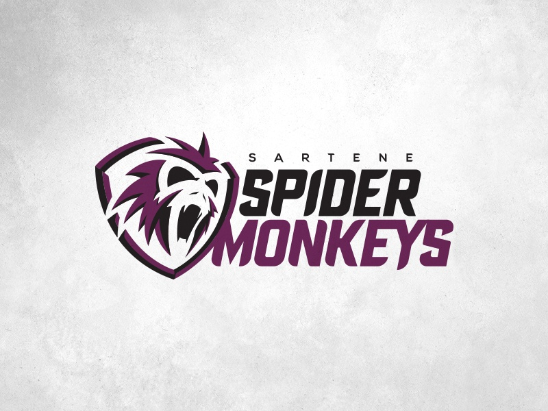 2018 Sartene Spider Monkeys illustration spider monkey mascot typography fantasy football football design logo sports design sports