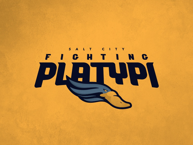 CFFL Salt City Fighting Platypi illustration platypus mascot typography fantasy football football design logo sports design sports