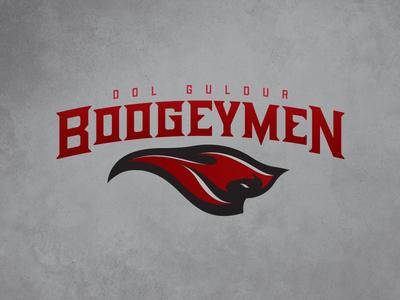 CFFL Dol Guldur Boogeymen illustration boogeyman mascot typography fantasy football football design logo sports design sports