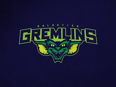 CFFL Galactica Gremlins illustration gremlins mascot typography fantasy football football design logo sports design sports