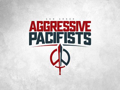 CFFL Ann Arbor Aggressive Pacifists illustration typography fantasy football football design logo sports design sports