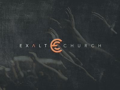 Exalt Church branding identity layout exalt church logos logo design