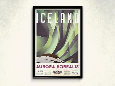 World of Wonder Travel Poster Series illustration layout victoria falls great barrier reef grand canyon aurora borealis travel poster design
