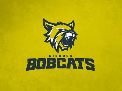 CFFL Sisquoc Bobcats illustration bobcat mascot typography fantasy football football design logo sports design sports