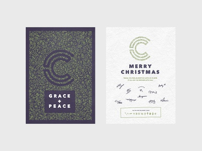 Capital Church Christmas Card card design layout design type typography lettering iconography illustration design holiday christmas card layout card