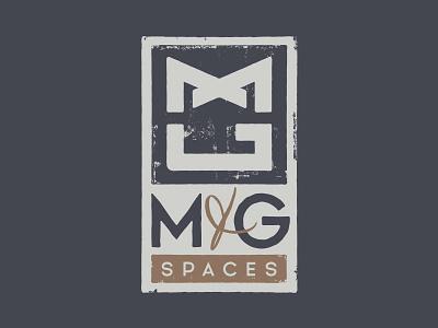 M G Spaces Logo interior design texture tpyography type logo design logo design
