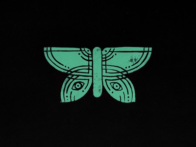 Butterfly Linocut illustration printing printmaking print stamped stamp linoprint linocut