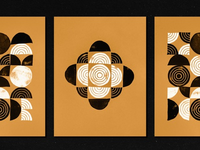 Geometric Linocut 2 graphic geometric printing print linoprint linocut stamps stamp