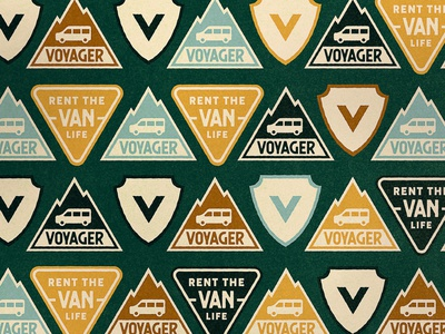 Voyager - Patches camping pattern patches patch vector branding