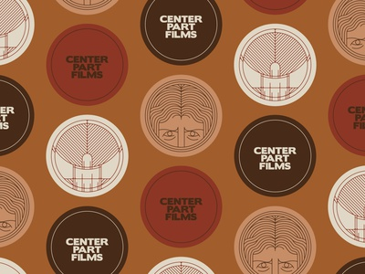 un-used icons: center part films logo design illustration branding vector