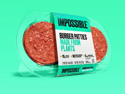 Impossible - Patty Retail Packaging 1 packaging design packaging burger