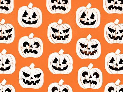 Pumpkin Stamps halloween print design printmaking linocut jack o lantern pumpkins stamp print