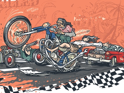 Chopper Fast Illustration